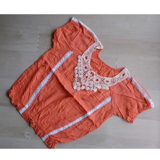 シマムラ(しまむら)のヴィンテージ オレンジ トップス(カットソー(半袖/袖なし))