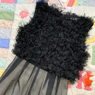 セタイチロウ(seta ichiro)の新品 未使用 タグ付き ワンピース 黒 せたいちろう ビアバスストップ (ひざ丈ワンピース)
