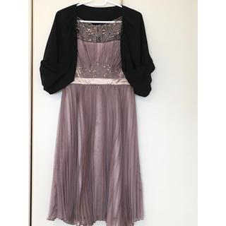 結婚式 ドレス+ボレロ 2点セット(ミディアムドレス)
