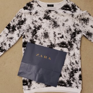 ザラ(ZARA)のZARAニットロングTシャツ(ニット/セーター)