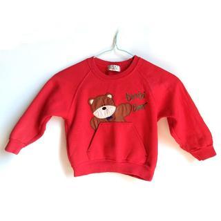 ナイガイ(NAIGAI)の裏起毛 クマさんトレーナー 100(Tシャツ/カットソー)