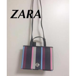 ザラ(ZARA)の新品 ZARA マルチカラー ストライプ 2wayショルダーバック(ショルダーバッグ)