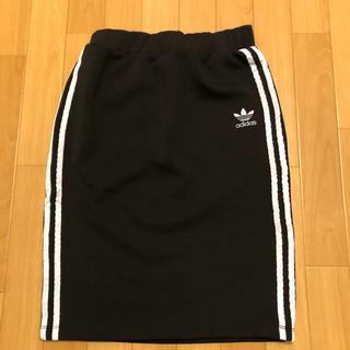 アディダス(adidas)のadidas originals アディダス タイト スカート ひざ丈 膝丈(ひざ丈スカート)