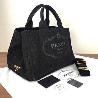 37102a5e51db プラダ(PRADA)の超美品 プラダ カナパ 2WAYトートバッグ NERO M ブラック