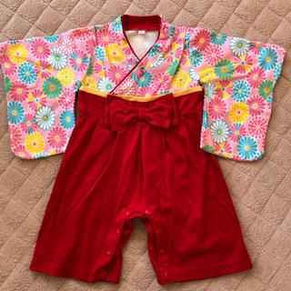袴ロンパース 女の子 80cm(和服/着物)