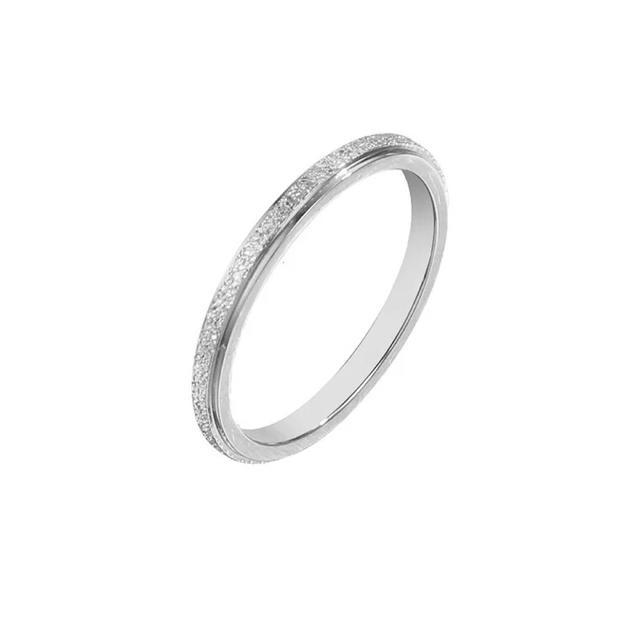 キラキラステンレスリング シンプル 華奢 アレルギー対応 指輪 重ね付け 綺麗 レディースのアクセサリー(リング(指輪))の商品写真