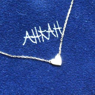 アーカー(AHKAH)のアーカー ネックレス k18  ハート(ネックレス)