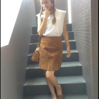 ZARA - 【最終お値下げ】MORE掲載♡ZARA  スウェードスカート  キャメル  M