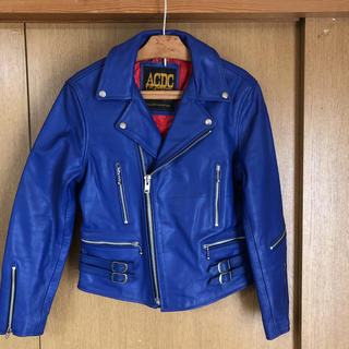 エーシーディーシーラグ(ACDC RAG)のACDCの牛革の青いライダースジャケットです。(ライダースジャケット)