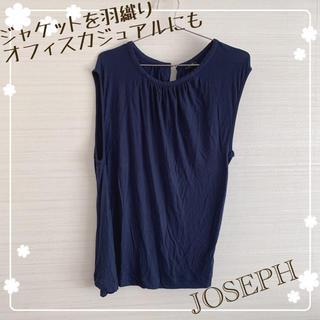ジョゼフ(JOSEPH)の紺色 チュニックよりのカットソー(カットソー(半袖/袖なし))
