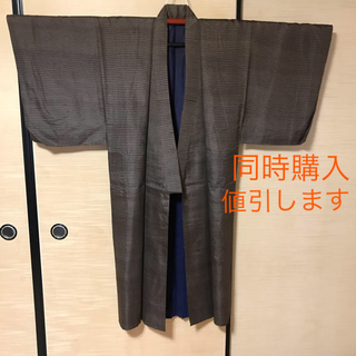 【中古】着物 男性用 普段用 ルームウェア 薄手(着物)