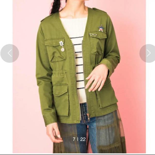 doll up oops(ドールアップウップス)のチュールレイヤードミリタリージャケット レディースのジャケット/アウター(ミリタリージャケット)の商品写真