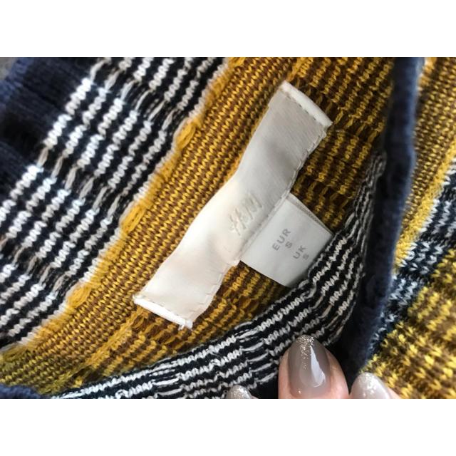 H&M(エイチアンドエム)の2019SS H&M yellow border long ONE PIECE レディースのワンピース(ロングワンピース/マキシワンピース)の商品写真