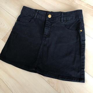 ザラ(ZARA)のZara Girls ミニスカート 黒 152センチ(スカート)