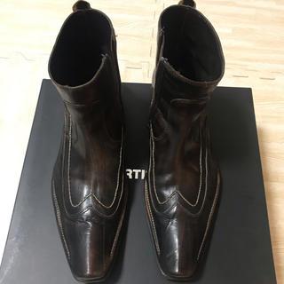 アルティザン(ARTISAN)のランクB 良品 男性用 アルチザン ロングノーズブーツ とんがり靴(ドレス/ビジネス)