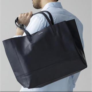 ナノユニバース(nano・universe)のwa様専用 新品 ナノユニバース スムースレザートートバッグ ネイビー(トートバッグ)