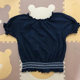 ジーユー(GU)のGU  紺 女の子Tシャツ(Tシャツ/カットソー)