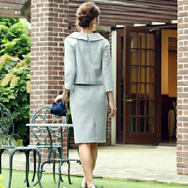 3bd53cd717824 ビジュー付き ロールカラーセットアップスーツ レディースのフォーマル/ドレス(スーツ)の商品