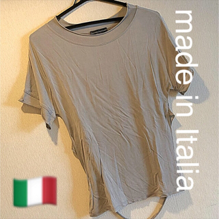 ㉙used【made in Italia】デザインTシャツ(Tシャツ/カットソー(半袖/袖なし))