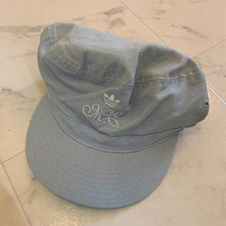アディダス(adidas)の新品タグ付 アディダス女児用帽子56cm(帽子)
