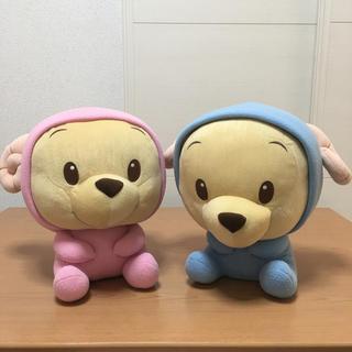 ディズニー(Disney)のBIG クマのプーさん ぬいぐるみ☆2個セット(ぬいぐるみ)