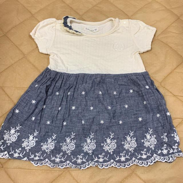 しまむら(シマムラ)のバースデー ワンピース 80cm キッズ/ベビー/マタニティのベビー服(~85cm)(ワンピース)の商品写真