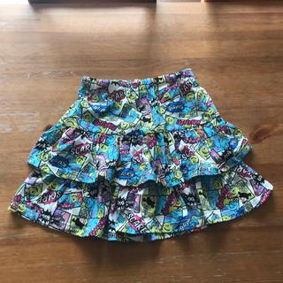 ニシマツヤ(西松屋)のused150モンスターズインクモチーフ可愛いティアード調キュロット(スカート)
