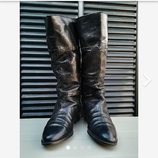 スピックアンドスパン(Spick and Span)のインポート 本革ブーツ made in Spain ブラック(ブーツ)