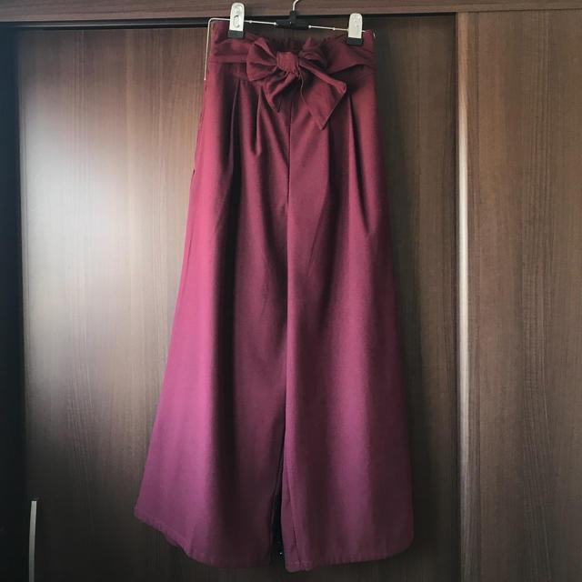 しまむら(シマムラ)のしまむら ウェストリボン スカンツ M レディースのパンツ(その他)の商品写真