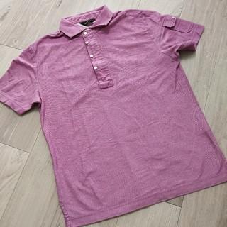 ジョゼフ(JOSEPH)のジョセフオム ポロシャツ ピンク ジップアップ 46 メンズ(ポロシャツ)