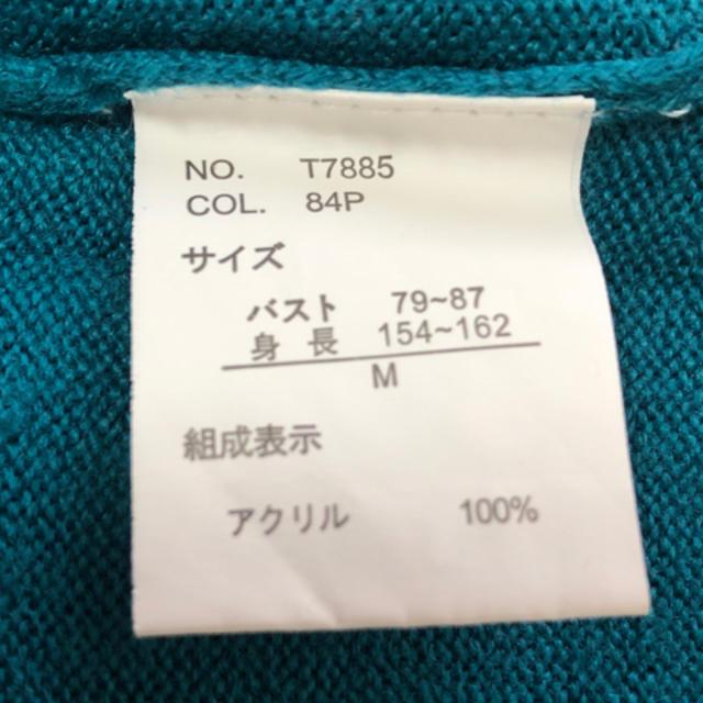 しまむら(シマムラ)のしまむら 薄ニット ブルー レディースのトップス(ニット/セーター)の商品写真