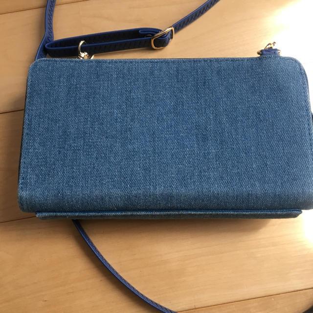 しまむら(シマムラ)の美品✳︎お財布ショルダー しまむら デニム リボン レディースのバッグ(ショルダーバッグ)の商品写真