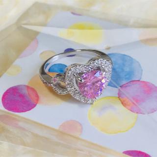 ビッグハートモチーフリング♡♡ キュービックジルコニア(リング(指輪))