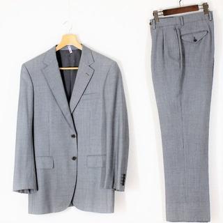 バーバリー(BURBERRY)のバーバリー スーツ A7 LL XL グレー 絹混  tqe 春夏秋 ★極美品★(セットアップ)