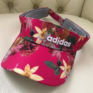 アディダス(adidas)のサンバイザー アディダス ゴルフ 新品未使用 タグなし レディス(その他)