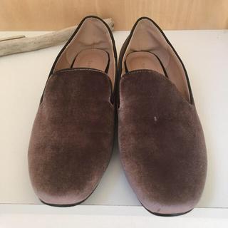ナノユニバース(nano・universe)の最終価格ナノユニバースベロアオペラシューズ38春フラットシューズ(ローファー/革靴)