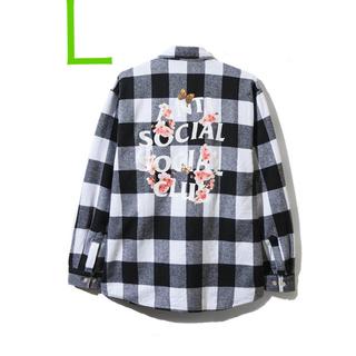 アンチ(ANTI)のASSC19ss anti social social club ネルシャツ(Tシャツ/カットソー(半袖/袖なし))