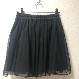 ローリーズファーム(LOWRYS FARM)のフレアチュールスカート 黒(ミニスカート)