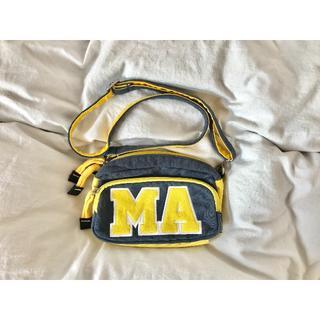 シマムラ(しまむら)の送料込み ポシェット MA マサチューセッツ アルファベット スウェット素材(ショルダーバッグ)