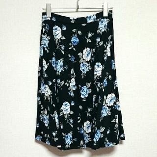 しまむら - 新品 花柄 ひざ丈 スカート しまむら アベイル