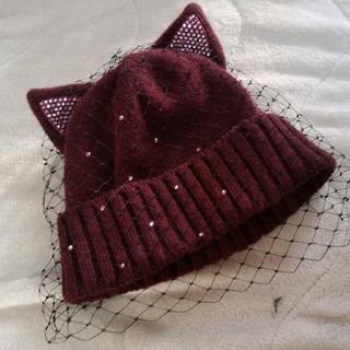 カシラ(CA4LA)の猫帽子(ニット帽/ビーニー)
