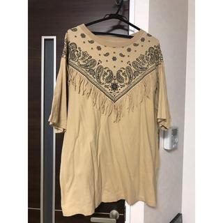 マウジー(moussy)のペイズリー柄ビッグシャツ(Tシャツ/カットソー(半袖/袖なし))