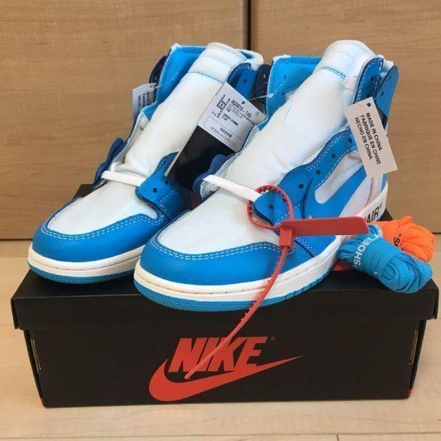 NIKE(ナイキ)の28 NIKE AIR JORDAN 1 × OFF-WHITE NRG メンズの靴/シューズ(スニーカー)の商品写真