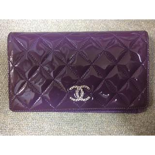 e762ba00a7a1 シャネル(CHANEL)の長財布 CHANEL シャネル 紫 パープル ウォレット(財布)