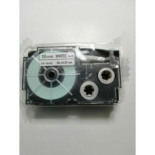 カシオ(CASIO)のカシオ ネームランドテープ 18mm 白テープ(黒文字)XR-18WE(その他)