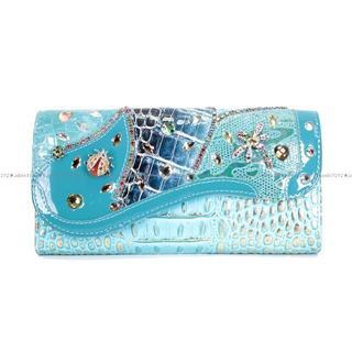 【ミケランジェロ】★長財布★送料無料★てんとう虫ととんぼ★ブルー6(財布)