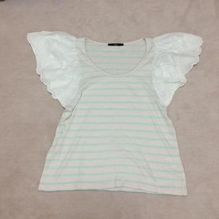 カスタネ(Kastane)の袖レースTシャツ(Tシャツ(半袖/袖なし))