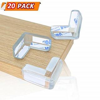 20 パック 透明 テーブル コーナーガード(その他)