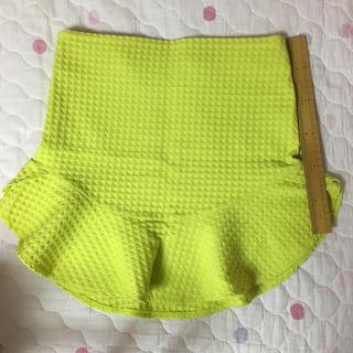 ザラ(ZARA)のZARA スカート 黄色(ミニスカート)