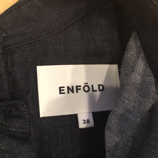 ENFOLD(エンフォルド)のenfold 極美品 2017ss オーバーサイズデニムシャツ  レディースのトップス(シャツ/ブラウス(長袖/七分))の商品写真